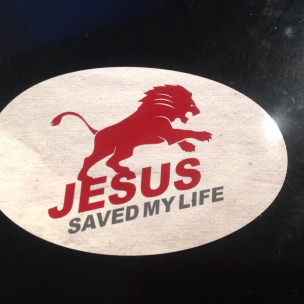 JESUS-SAVED-MY-LIFE-Aufkleber